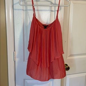 Forever 21 light coral layered tank new